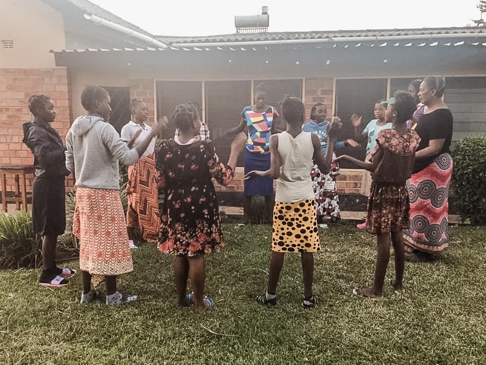 girls in Zambia
